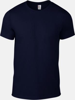 Marinblå (herr) Snygga bas t-shirts för herr, dam & barn - med reklamtryck