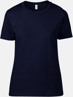 Marinblå (dam) Snygga bas t-shirts för herr, dam & barn - med reklamtryck
