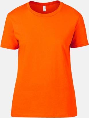 Neon Orange (dam) Snygga bas t-shirts för herr, dam & barn - med reklamtryck