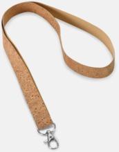 Nyckelband i kork med reklamtryck