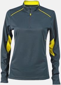 Steel Gray/Lemon (dam) Herr- & damfunktionströjor med reklamtryck