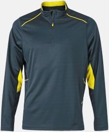 Steel Gray/Lemon (herr) Herr- & damfunktionströjor med reklamtryck