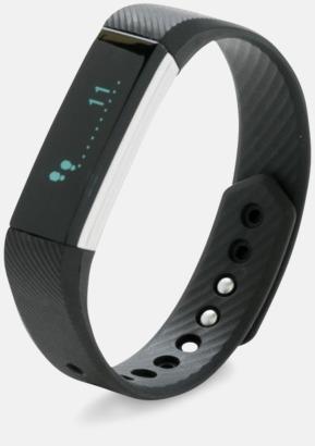 Svart Armband för en hälsosam livsstil med reklamtryck