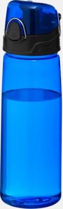 Transparent blå BPA-fria vattenflaskor med reklamtryck