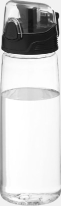 Transparent klar BPA-fria vattenflaskor med reklamtryck