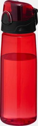 Transparent röd BPA-fria vattenflaskor med reklamtryck